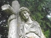 Statue in Forest City Cemetery