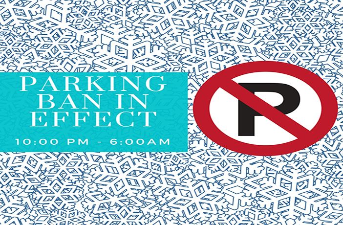 PARKING BAN IN EFFECT