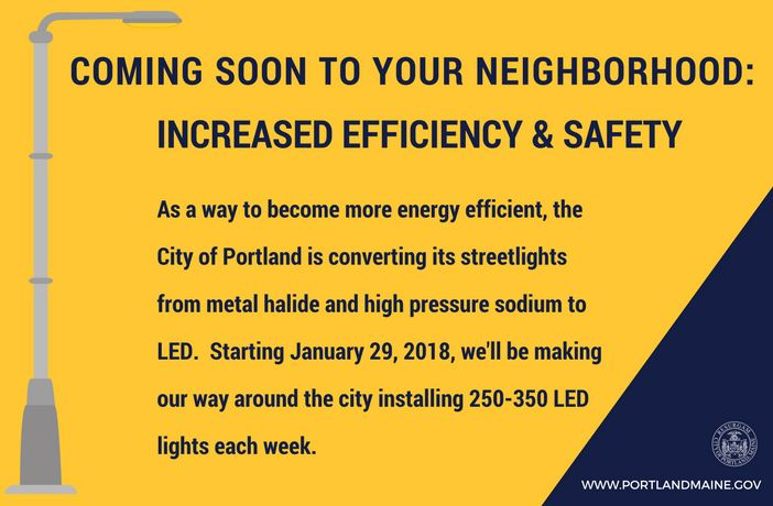 LED streetlights coming soon