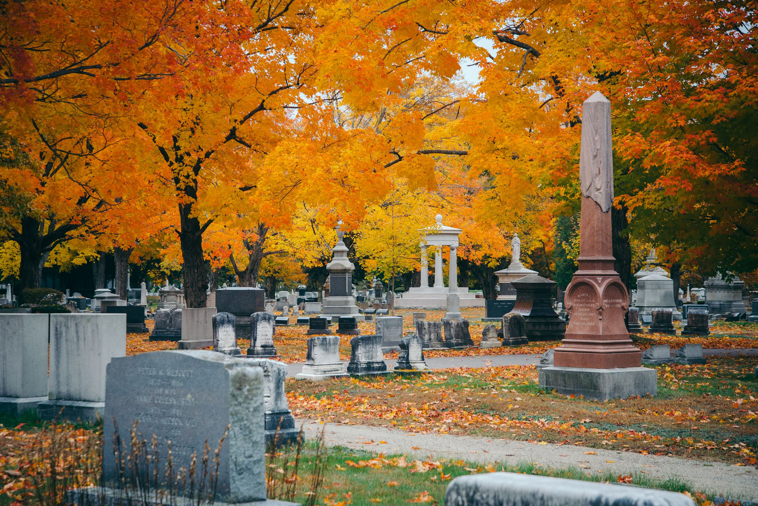 Autumn at Evergreen Cemetery Portland, Maine 04103