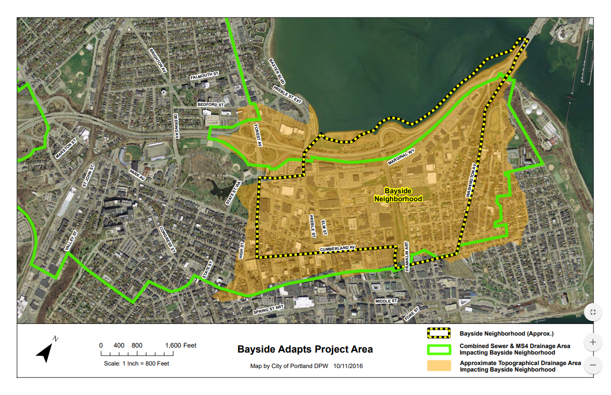 bayside adapts project area