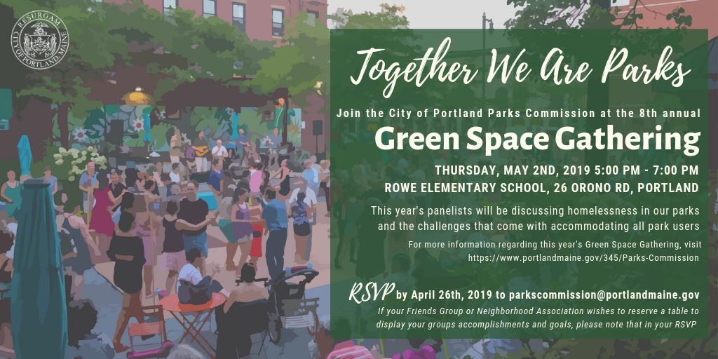 Green Space Gathering, May 2, Portland, Maine