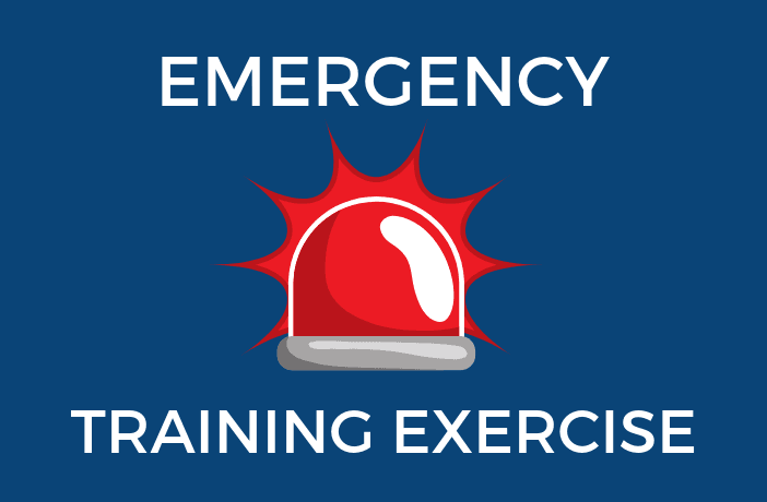 EMERGENCY training exercise