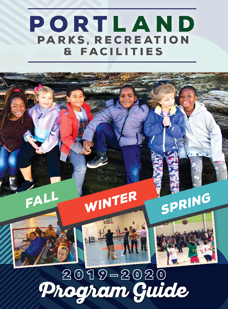 Fall-winter-spring Recreation 19-20 program guide COVER Portland Maine