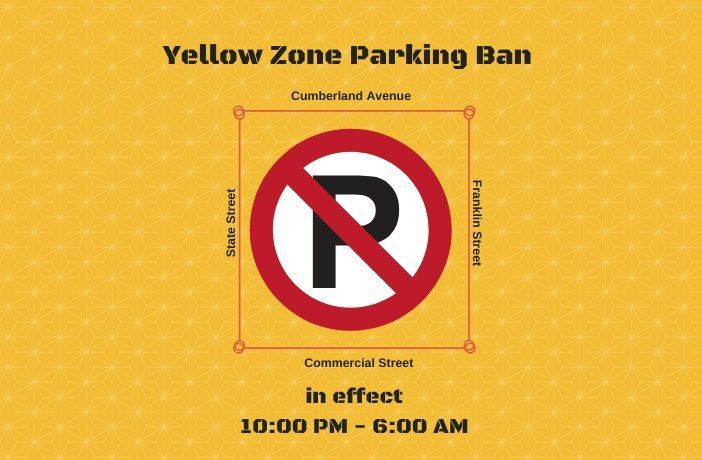 yellow zone parking ban