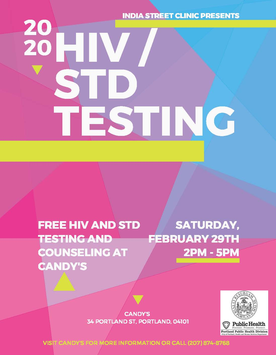HIV _ STD Testing Event Poster