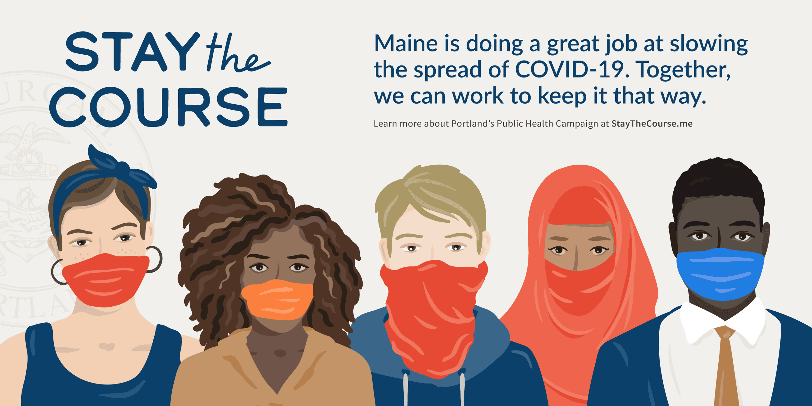 Stay the Course to Prevent COVID-19 Banner Graphic
